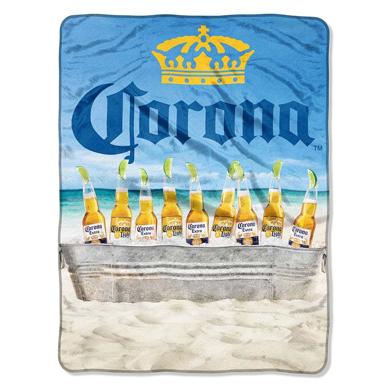 Corona Extra Plush Throw Beach Scene Blanket
