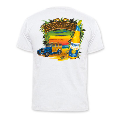 Corona Extra Corona Daze White Tee Shirt