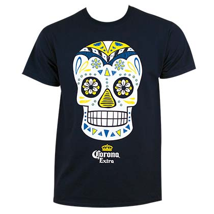 Corona Extra Men's Blue Dia de los Muertos T-Shirt