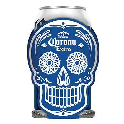Corona Extra Glow In The Dark Blue Dia De Los Muertos Can Cooler