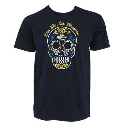Corona Extra Dia de los Muertos Men's Navy Blue T-Shirt