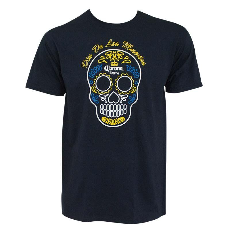 Corona Extra Dia de los Muertos Promo Navy Blue Tee Shirt