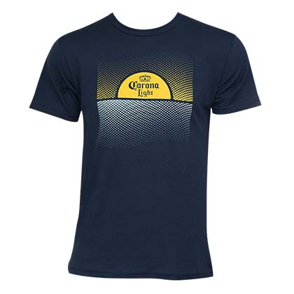 Corona Light Men's Navy Blue Sunset T-Shirt