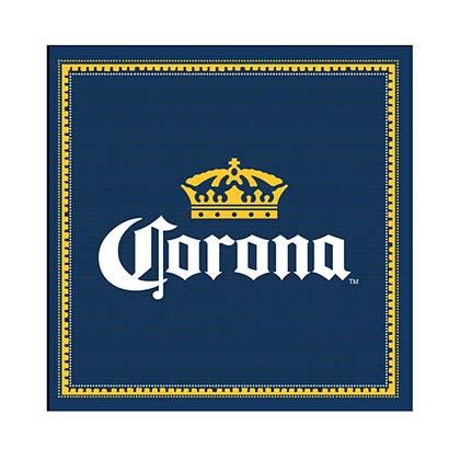 Corona Extra Navy Blue Large Bar Mat