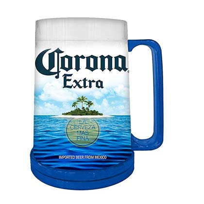 Corona Beach Freezer Plastic Beer Stein 16 Ounces