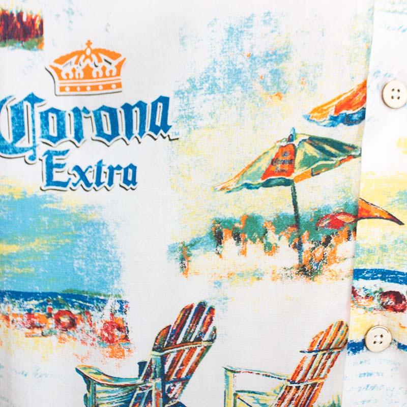Corona Extra Beach Scene Aloha Shirt