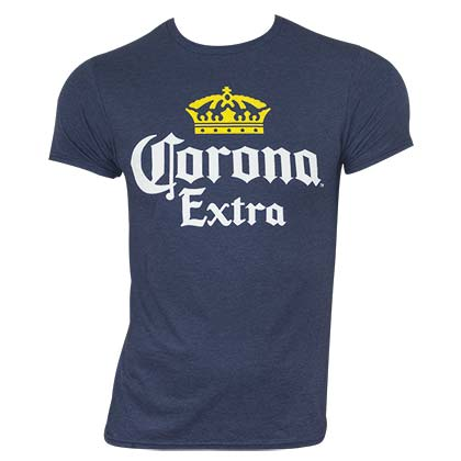 Corona Extra Men's Heather Blue Classic Label T-Shirt
