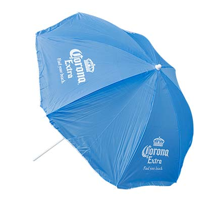 Corona Extra Beach Umbrella Sky Blue