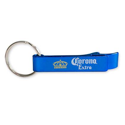 Corona Extra Blue Bottle Opener Keychain