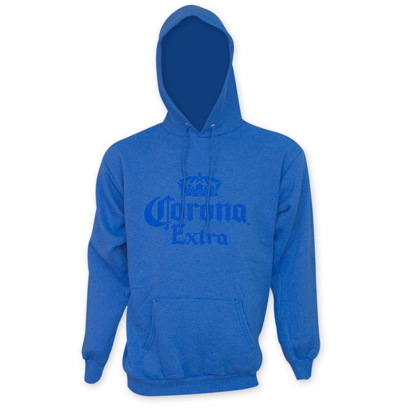 Corona Extra Beer Logo Blue Pullover Hoodie