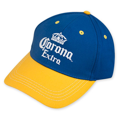 Corona Extra Adjustable Blue And Yellow Crown Logo Hat