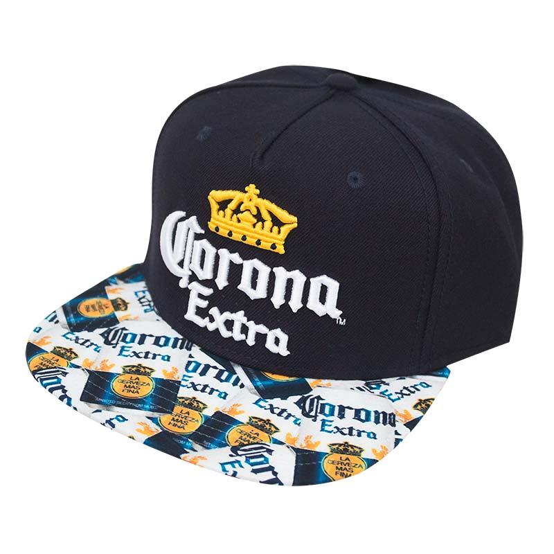 Corona Extra Graphic Logo Brim Snapback Cap