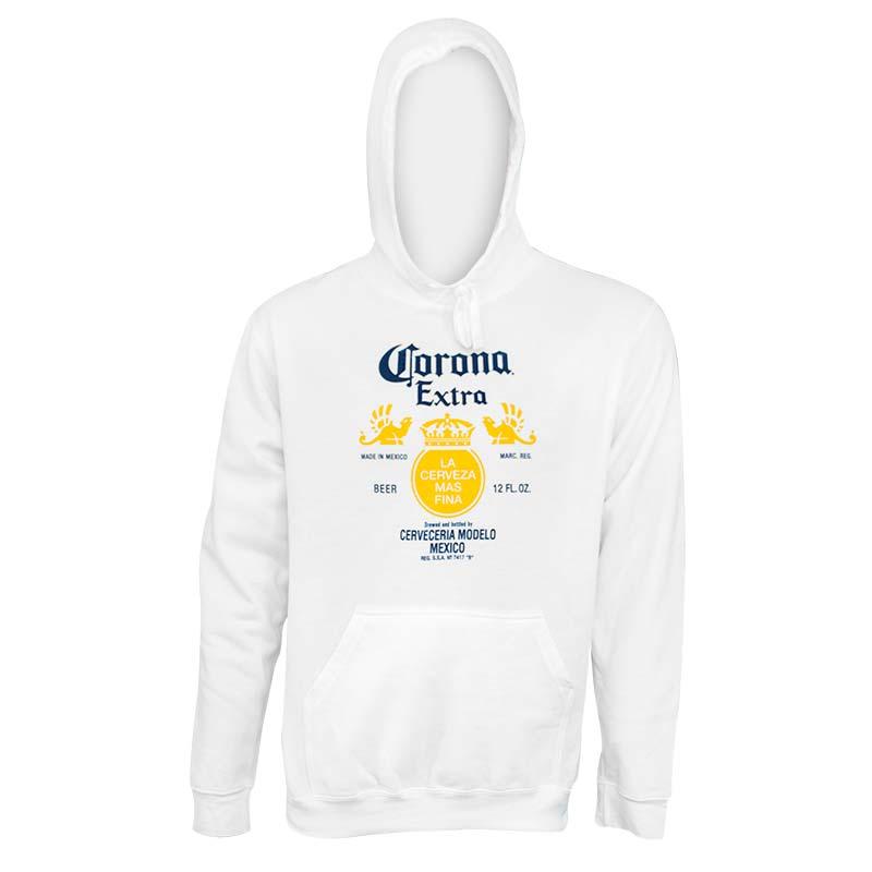 Corona Extra Label White Hoodie
