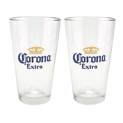 Corona Extra 2 Pack Pint Glasses
