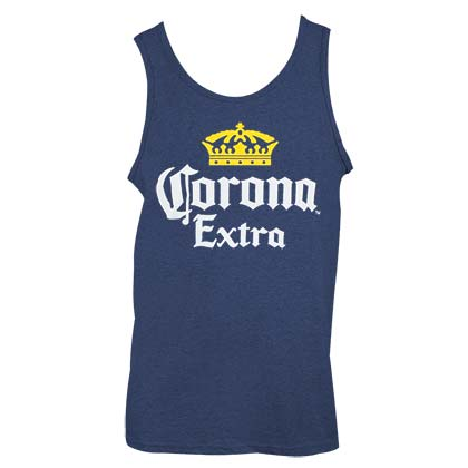 Corona Extra Logo Navy Blue Men's Tank Top