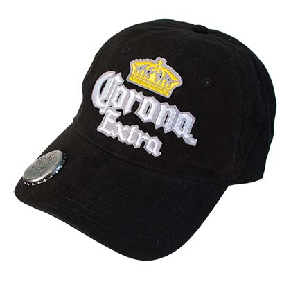 Corona Extra Adjustable Black Bottle Opener Hat