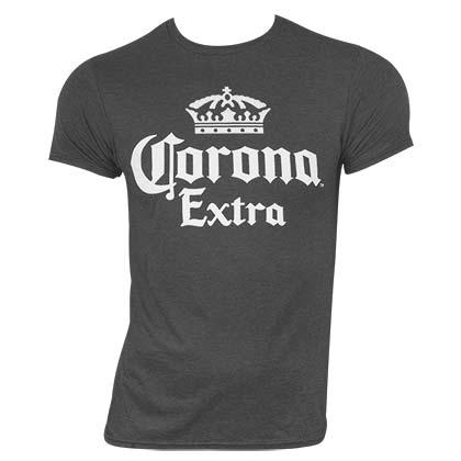Corona Extra Classic Label Grey Tee Shirt
