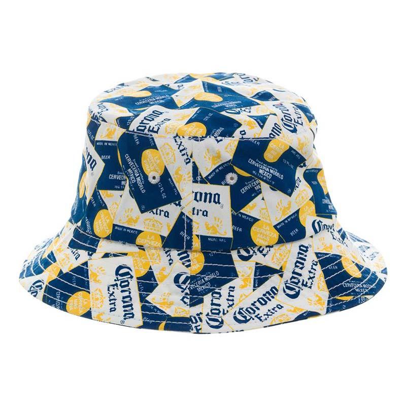 Corona Extra Labels Mens Beer Bucket Hat