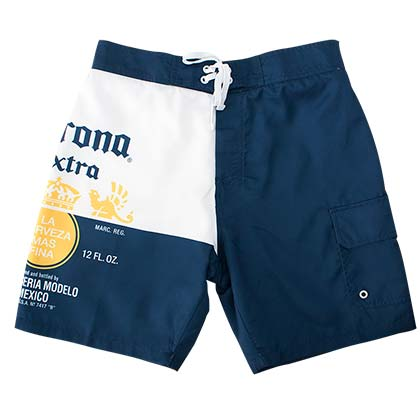 ed20404710 Corona Extra Blue & White Split Board Shorts