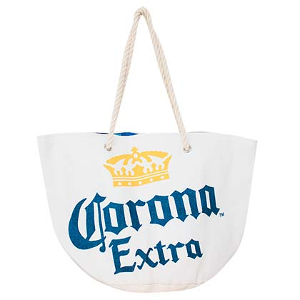 Corona Extra Logo Beach White Tote Bag
