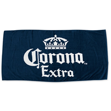 Corona Extra Beer Logo Navy Blue Towel
