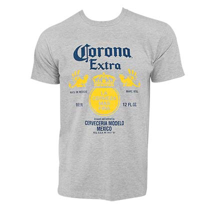 Corona Extra Label Grey Tshirt