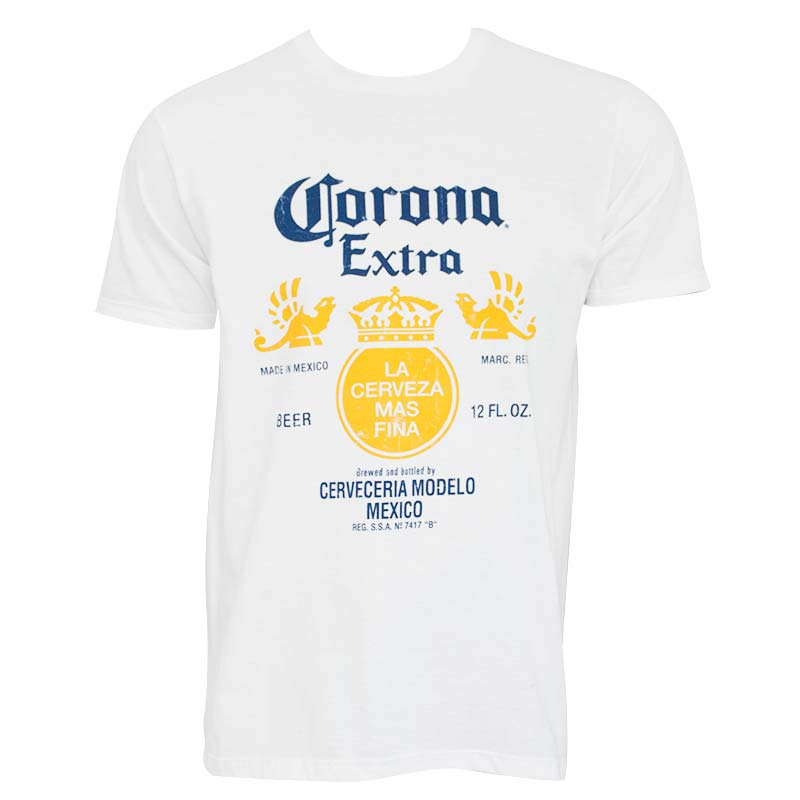 5b22a8b377e Corona Extra Label White T-Shirt