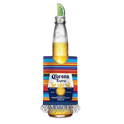 Corona Extra Multi-Color Poncho Style Bottle Cooler