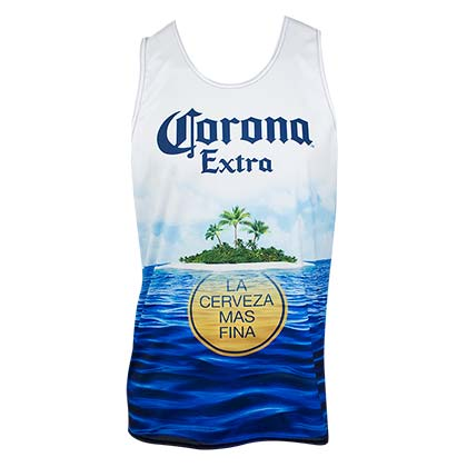 Corona Extra Beach Scene Men's Tank Top