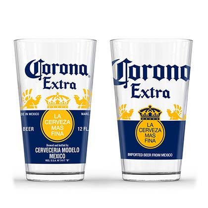 Corona Extra Set Of Two Pint Glasses