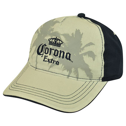 Corona Extra Two Tone Palm Tree Hat