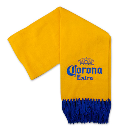 Corona Extra Yellow And Blue Scarf