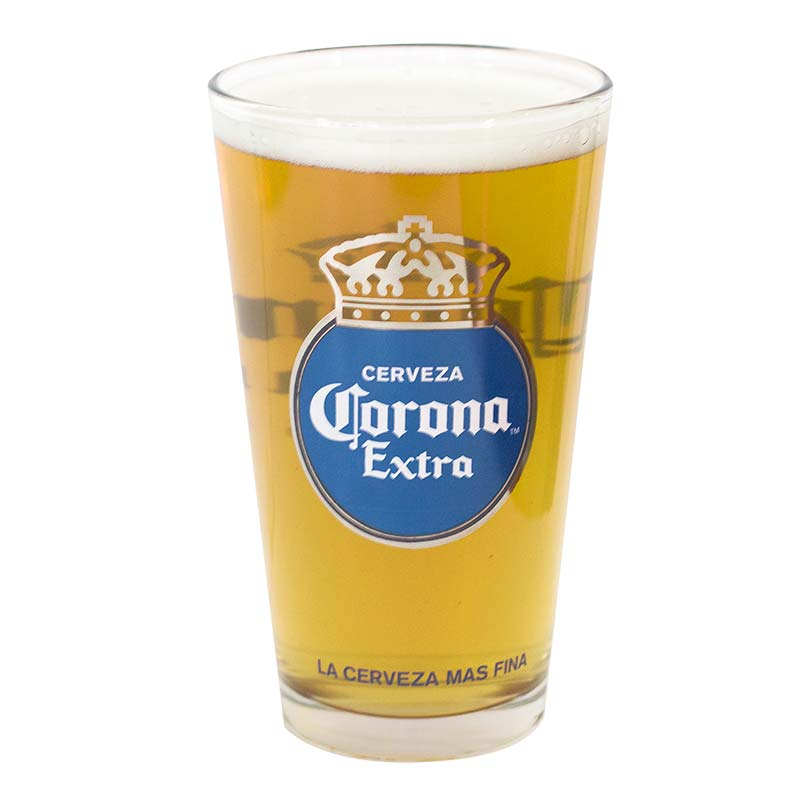Corona extra cerveza pint glass for How to make corona glasses