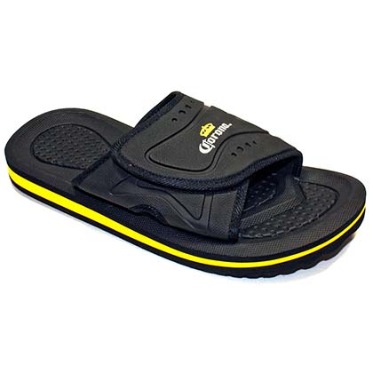 Corona Extra Black Men's Slip On Sandals