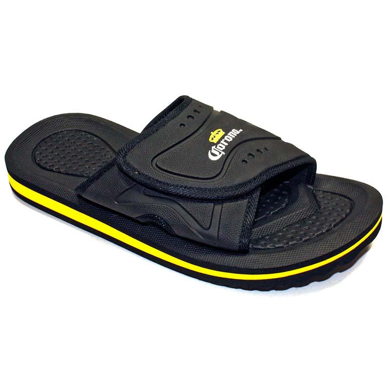 Corona Extra Black Men's Slip On Sandals
