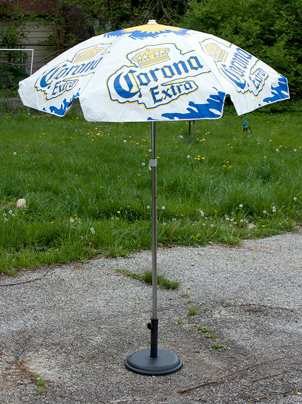 Corona Extra Heavy Duty Vinyl Patio Table Beach Umbrella