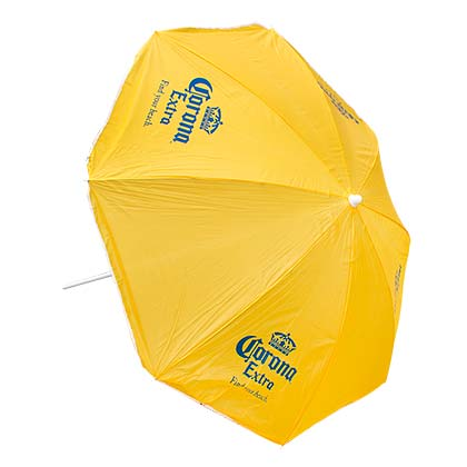 Corona Extra Beach Umbrella Yellow