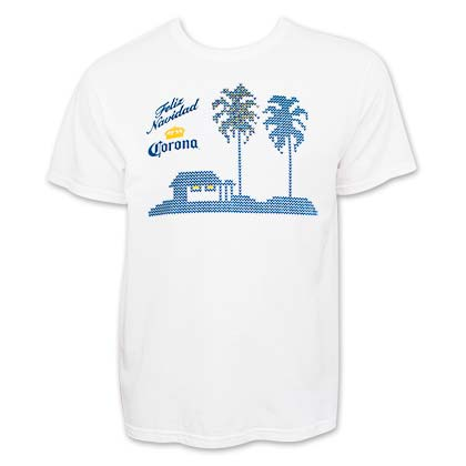 Corona Men's White Feliz Navidad T-Shirt