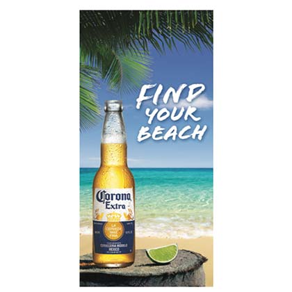Corona Extra Find Your Beach Towel