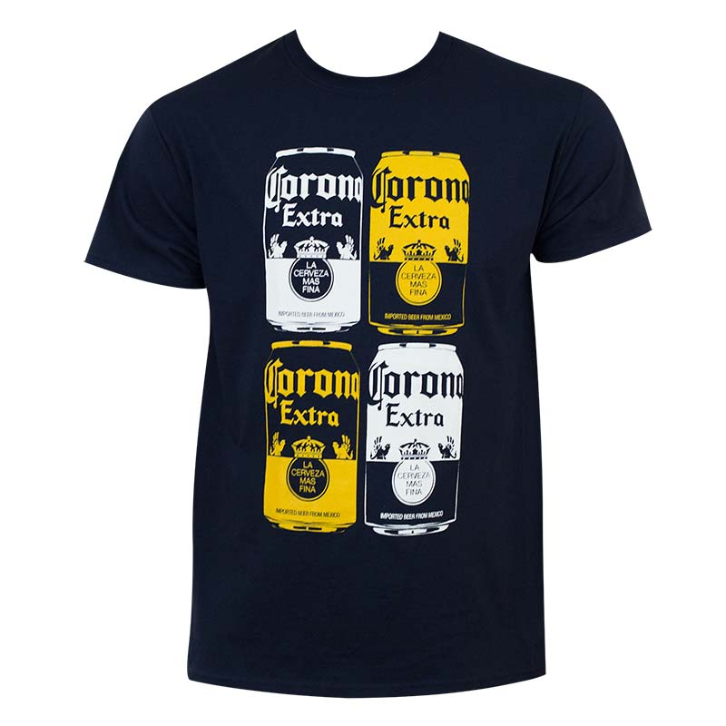 Corona Extra Navy Blue Quad-Panel Tee Shirt