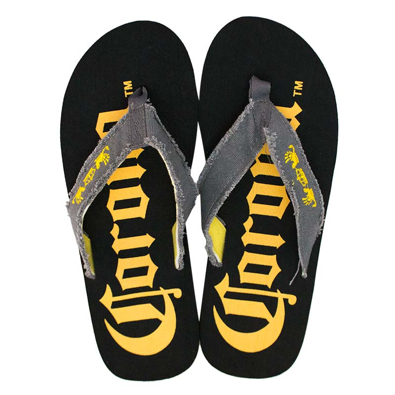 Corona Extra Men's Big Logo Black Flip Flops