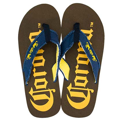 Corona Extra Big Logo Brown Men's Sandals