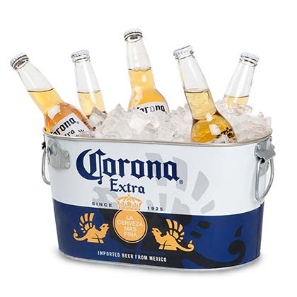 Corona Extra Galvanized Beer Tub
