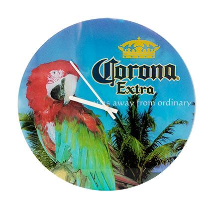 Corona Extra Beach Theme Parrot Clock