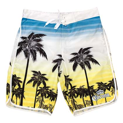 Men's Corona Beer Blue To Yellow Sunset Board Shorts
