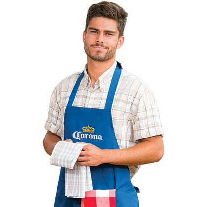Corona Beer BBQ Blue Grilling Apron