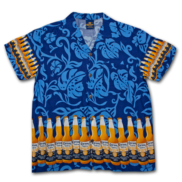 2dcf3ee80 Corona Extra Bottle Aloha Hawaiian Shirt