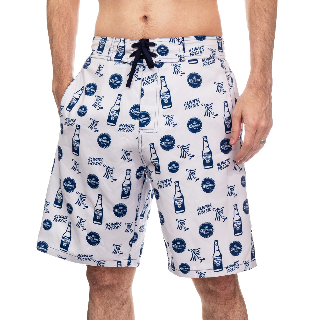 Corona Icon White Board Shorts