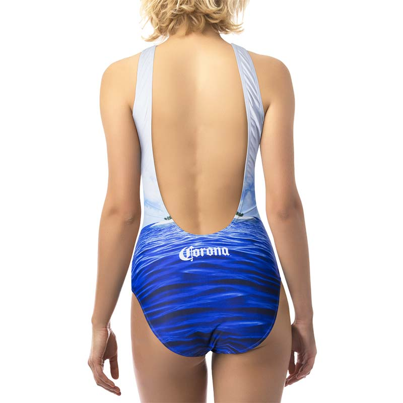 Corona Extra Beach Scene One Piece Women's Swimsuit