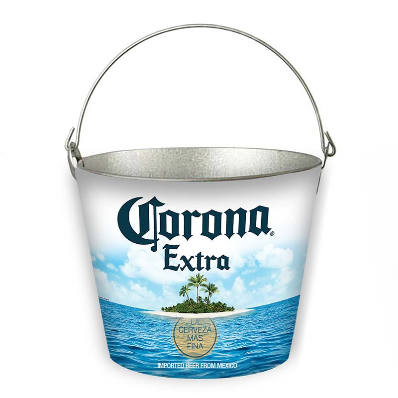 Corona Extra Bottle Opener Island Beach Scene Beer Bucket